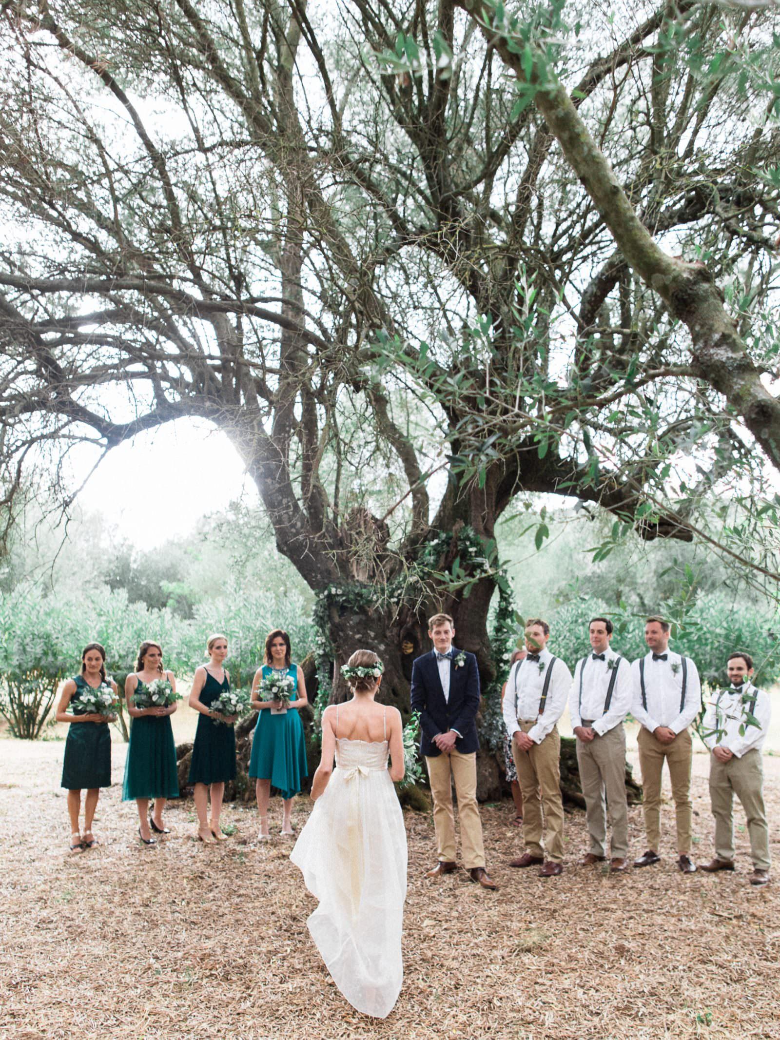 Olive Garden wedding ceremony at Gentilini Retreat