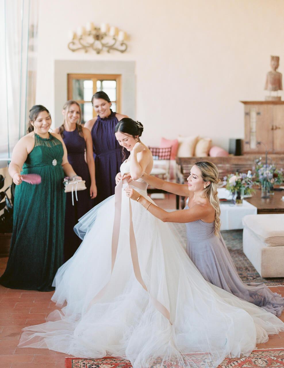 best spot for brides preparation at Villa Mangiacane florence