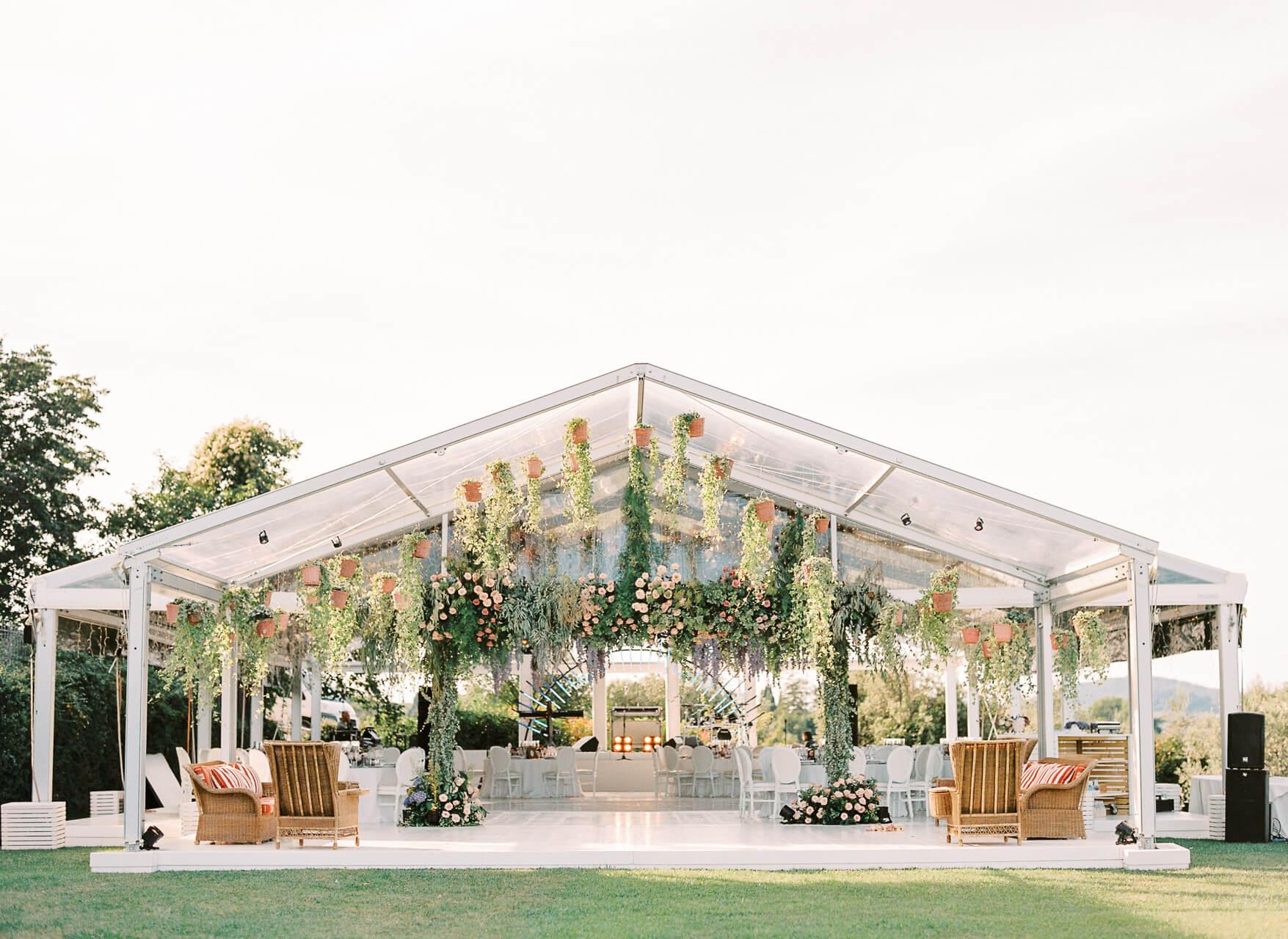 outdoor wedding gazebo in florence