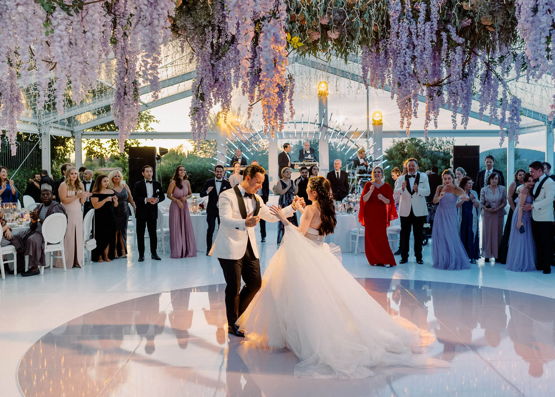 wedding first dance at Villa Mangiacane florence