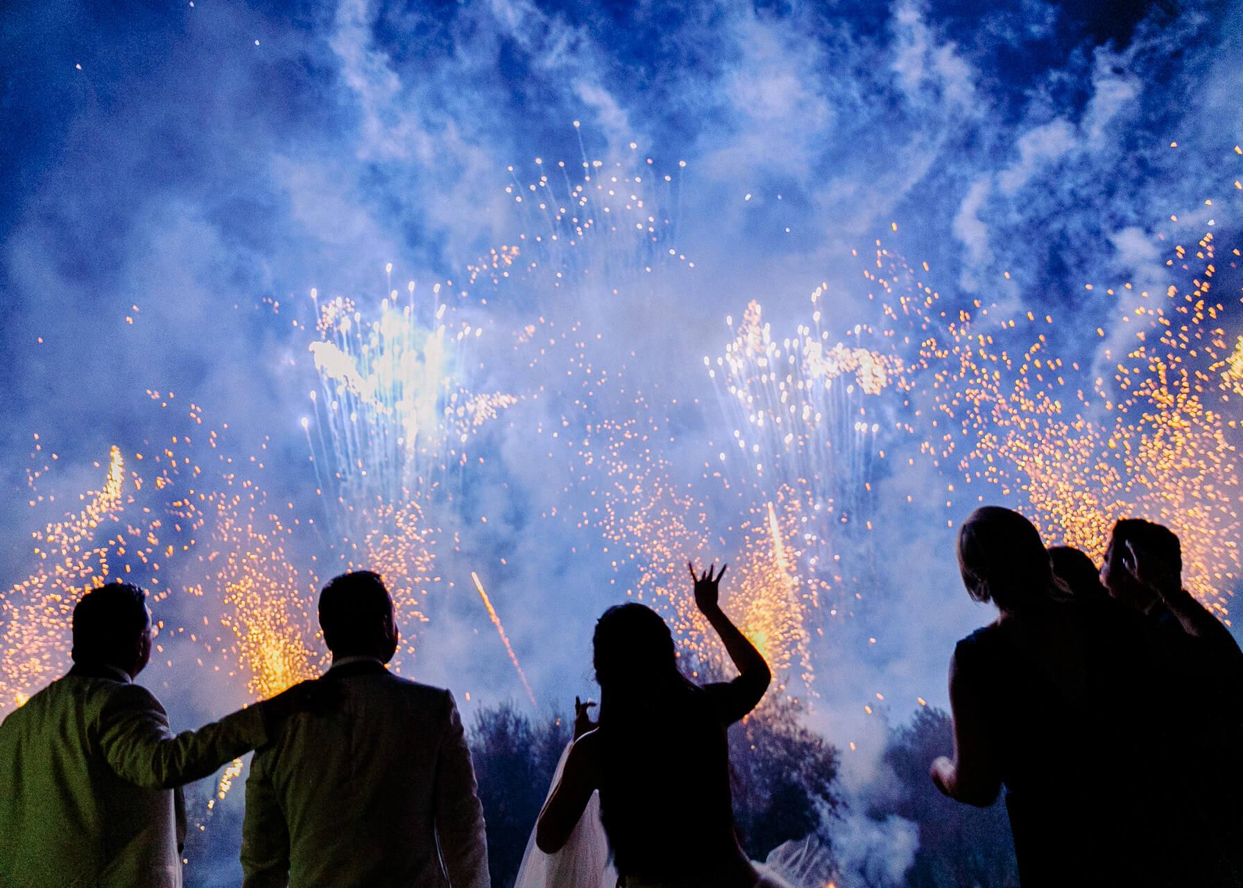 fireworks for weddings at Villa Mangiacane Wedding florence