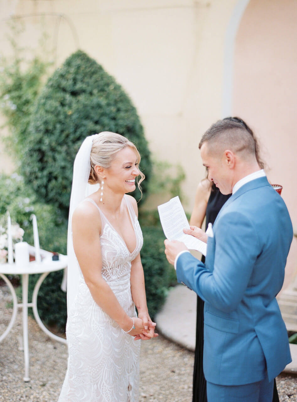 Wedding vows in Florence - Villa agape