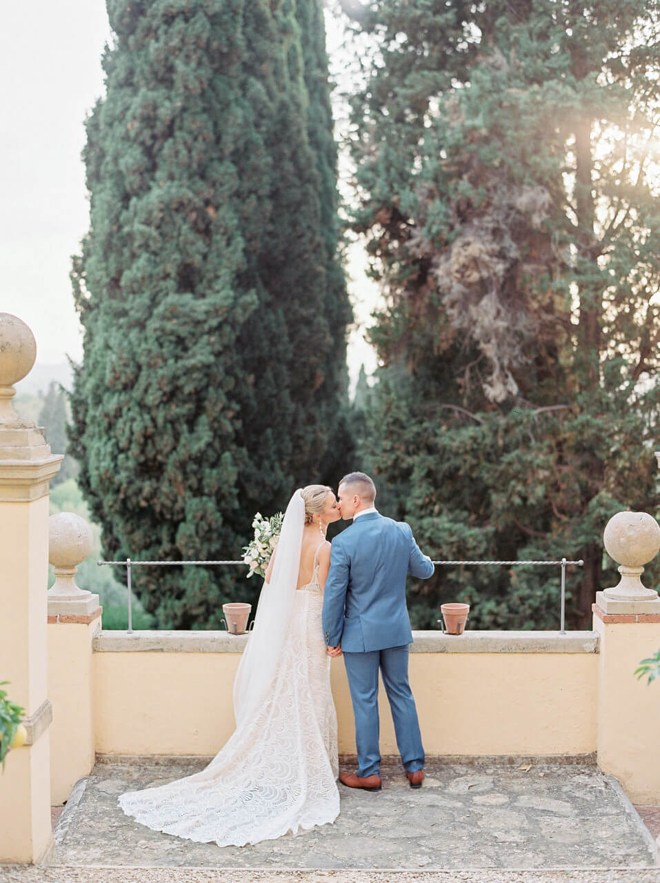 Sunset wedding views in Florence - Adrian Wood Photography