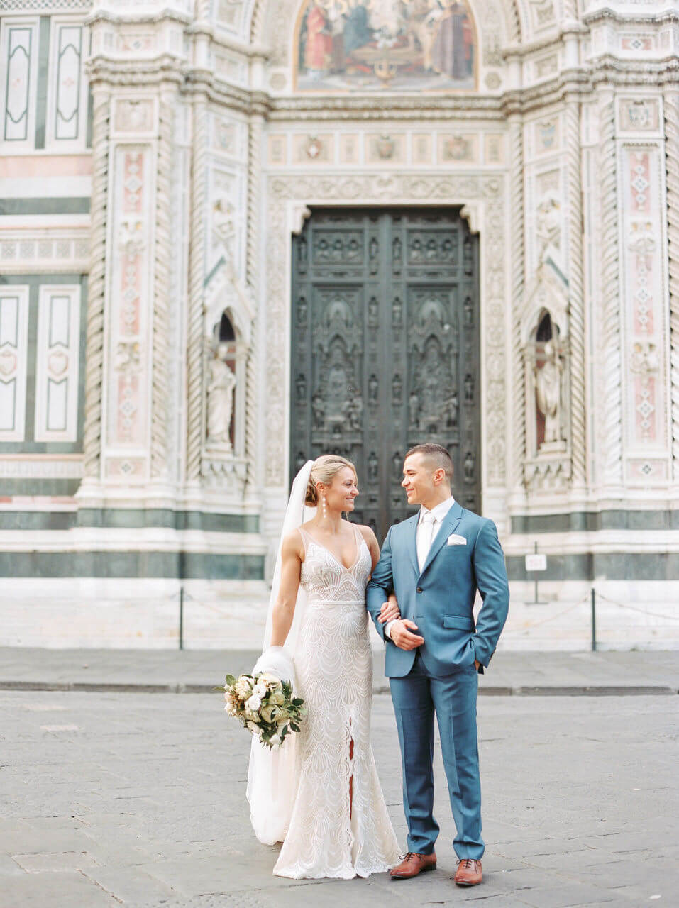 Wedding Portraits at the Doumo in Florence by Adrian Wood Photography