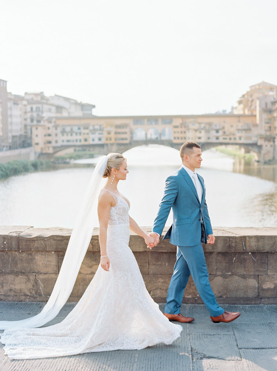 florence ponte vecchio wedding portraits by Adrian Wood Photography